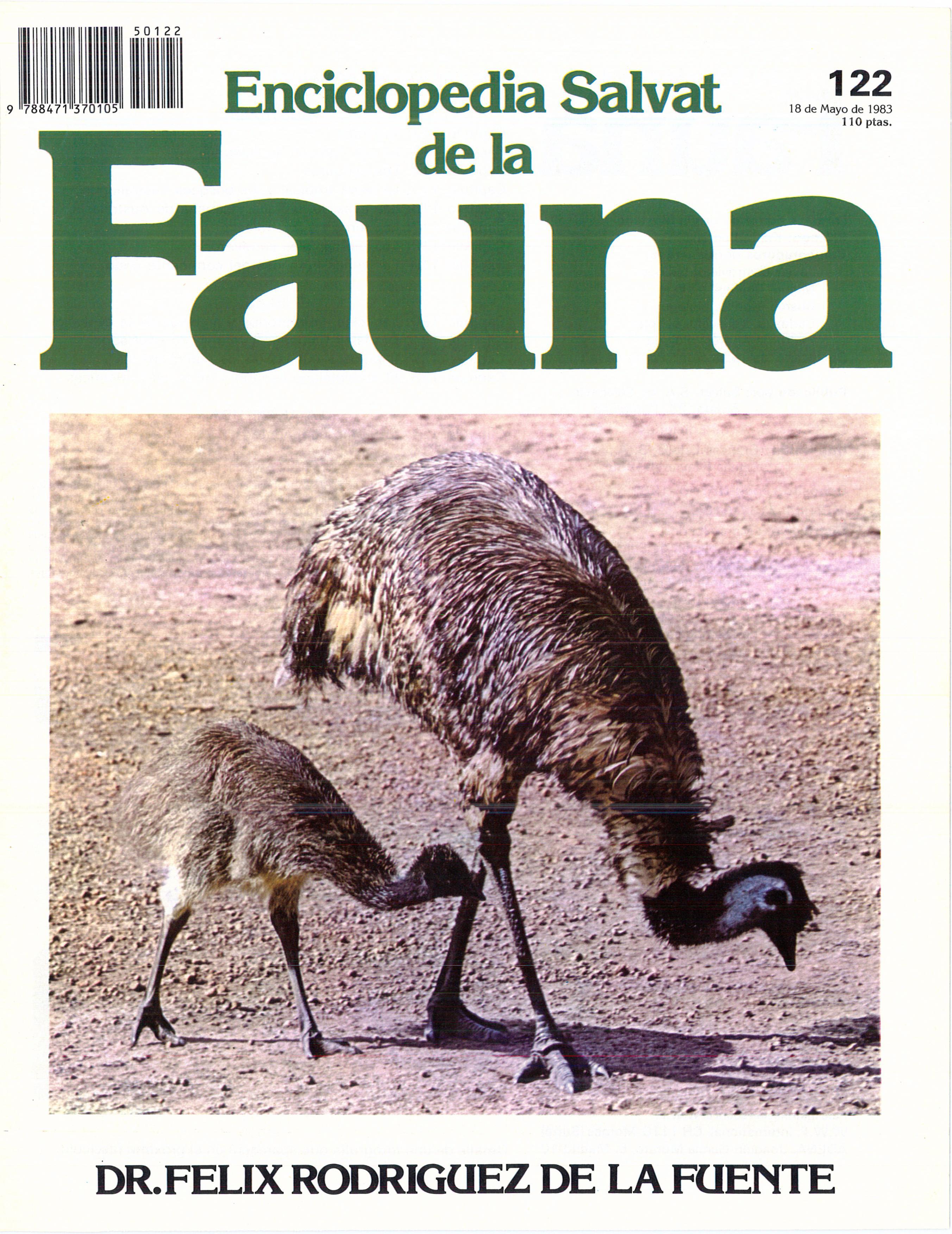 ENCICLOPEDIA SALVAT DE LA FAUNA. Dr. Félix Rodríguez de la Fuente. Edición en fascículos con portadas de color blanco.