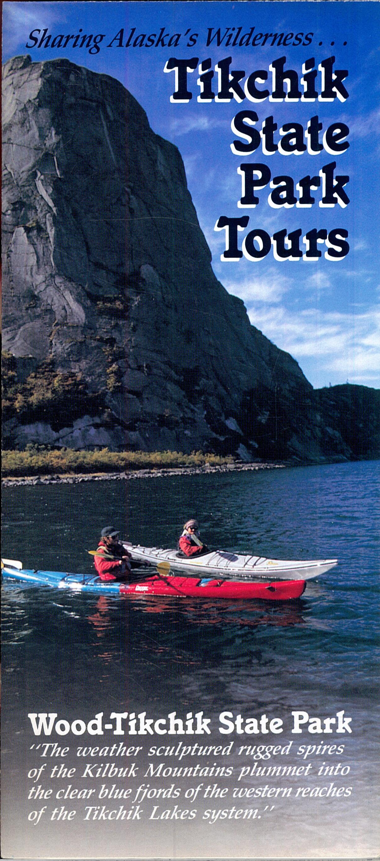 Portada del folleto turístico del Tikchik Sate Parks Tours (Alaska): The «jewel» of Alaska's State Parks.