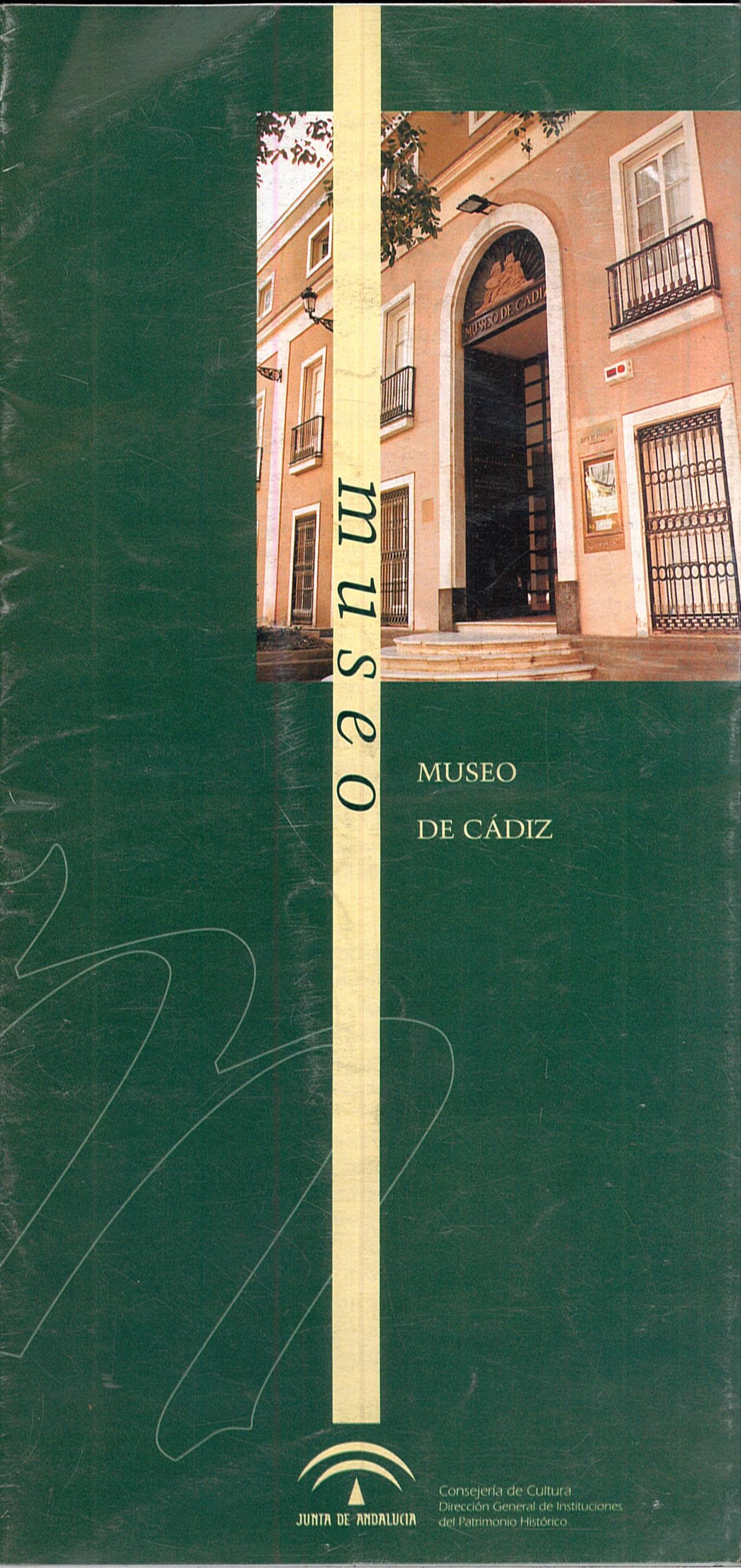 Portada del folleto turístico dedicado al MUSEO DE CÁDIZ.