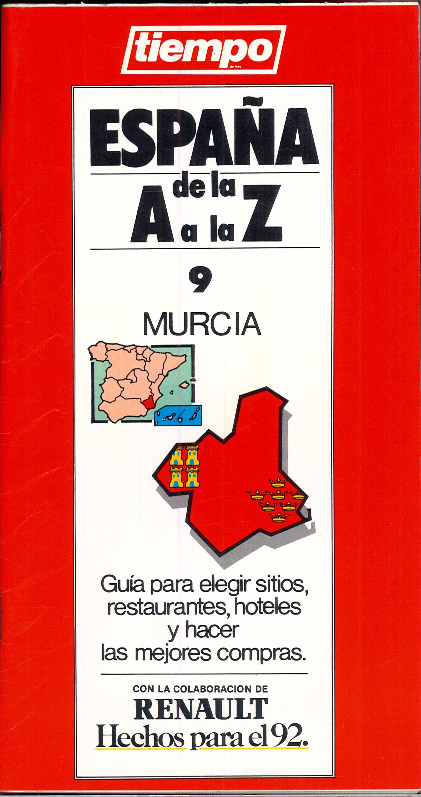 Portada del fascículo nº 9: MURCIA (ESPAÑA de la A la Z).