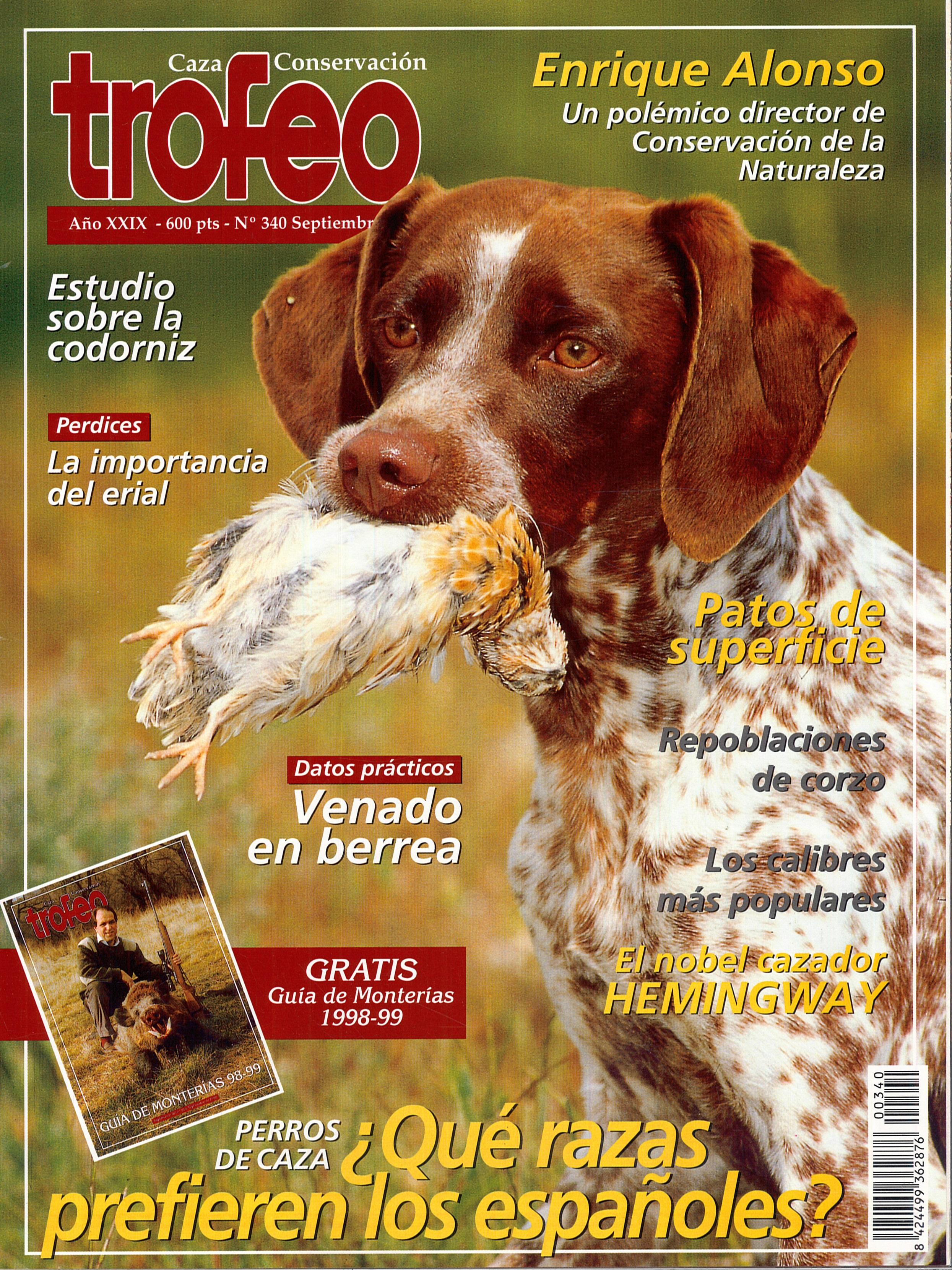TROFEO, año XXIX, nº 340 (septiembre de 1998).