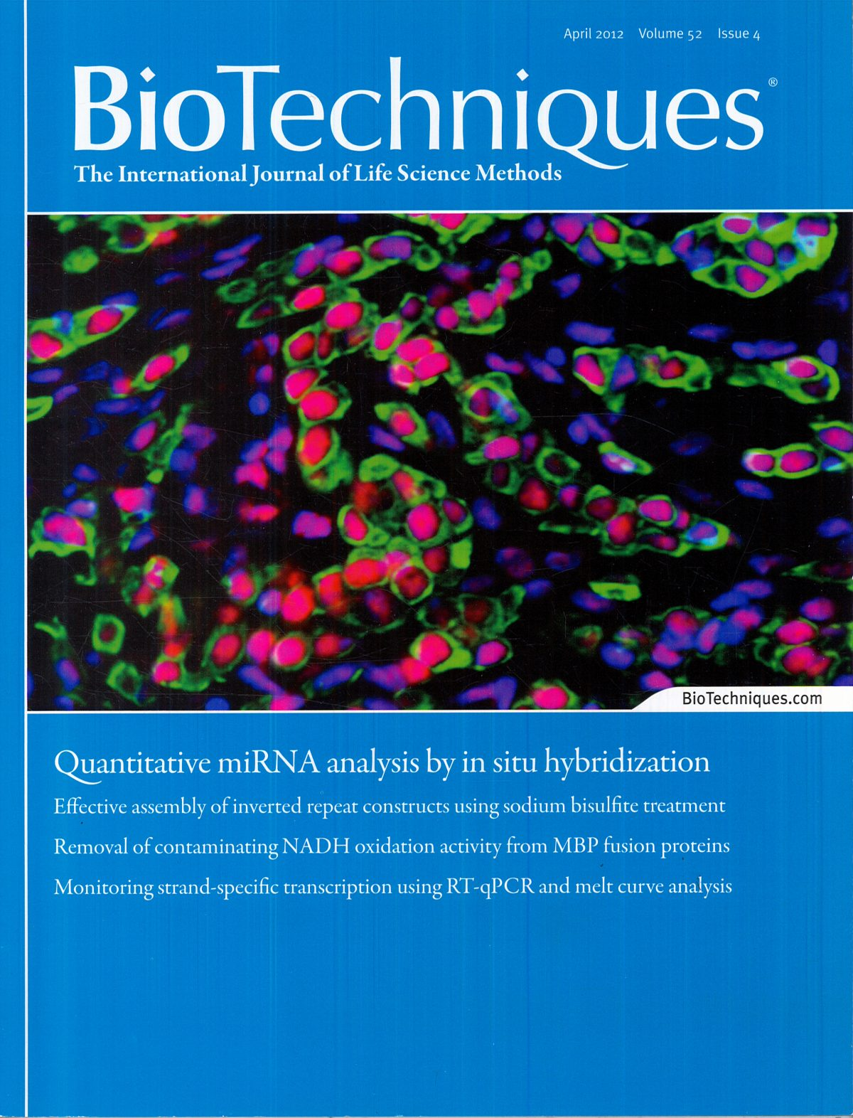 """BioTechniques (The International Journal of Life Science Methods)"""