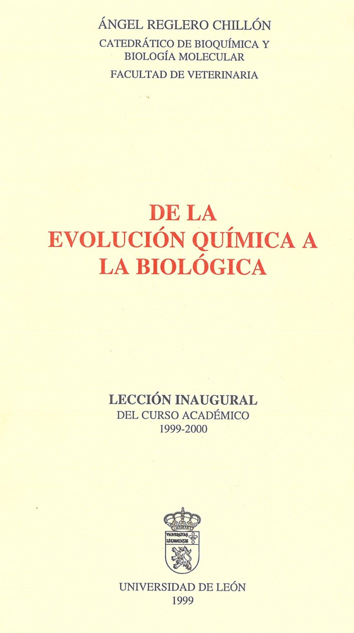 «De la evolución química a la biológica»